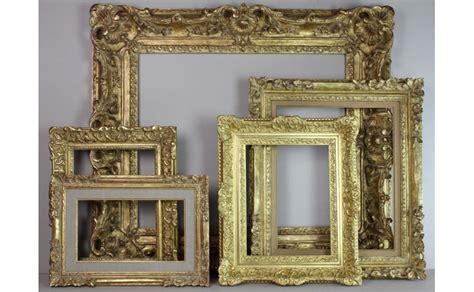 cadre sculpte bois dore a la feuille marin beaux arts