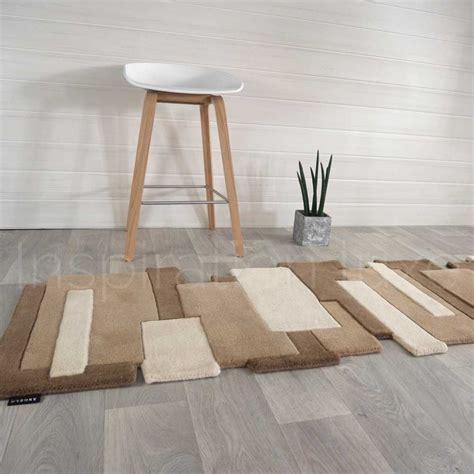 tapis taupe de luxe de couloir design pebbles par angelo