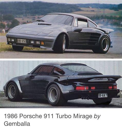 1986 gemballa mirage porsche pinterest porsche 911