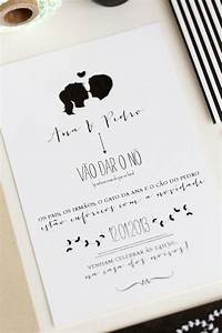 Ana pedro39s modern organic wedding invitations for Black and white silhouette wedding invitations