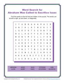 abraham was called to sacrifice isaac word search children 39 s bible activities sunday school