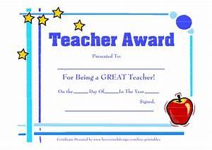 Free Printable Best Teacher Certificates