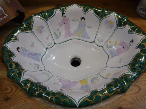 sherle wagner italian hand painted chinoiserie sink at the
