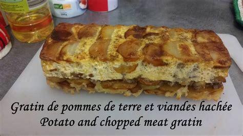 Gratin De Pommes De Terre A La Viande Haché  Potato And