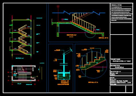staircase detail dwg detail  autocad designs cad