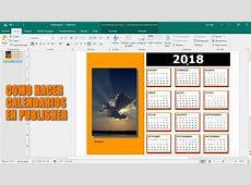 Como hacer un calendario 2018 en publisher YouTube