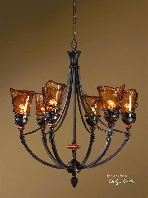 Uttermost Lighting by Uttermost Vitalia Six Light Up Lighting Chandelier