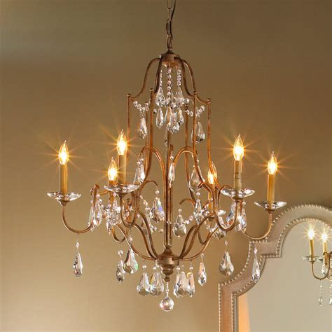 Swag Chandelier In by Deco Swag Mini Chandelier 6 Lt Shades Of Light