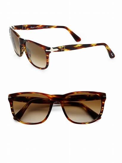 Sunglasses Wayfarer Persol Plastic Brown Designer