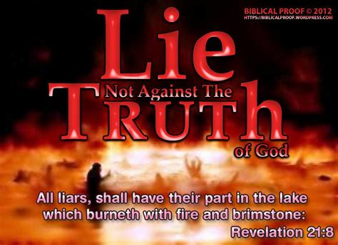 lie not against the of god biblical proof