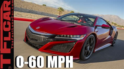 How Fast Is The 2017 Acura Nsx From 0-60 Mph? You Time It