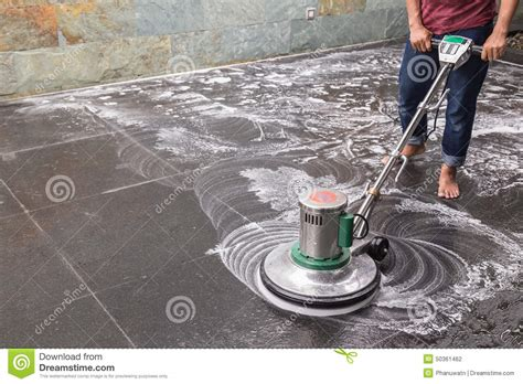 floor cleaning with big machine stock photo image 50361462