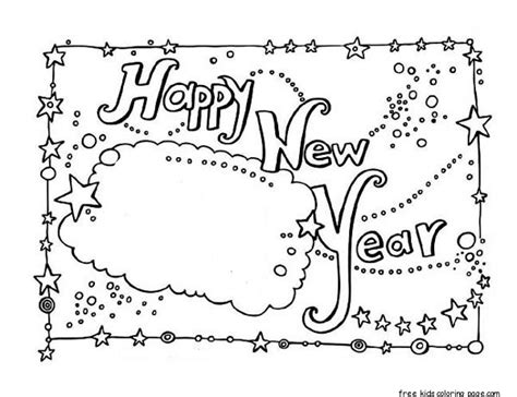 Coloring Cards by New Year Card Coloring Free Printable Coloring Pages For