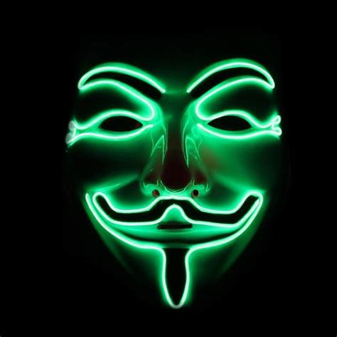 Led Guy Fawkes Mask, Anonymous Light Up Mask Emazinglights