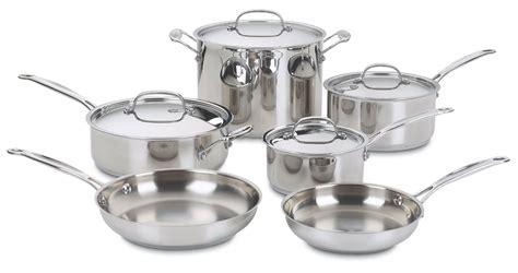 cookware cuisinart pots sets stainless pans piece steel classic saucepans