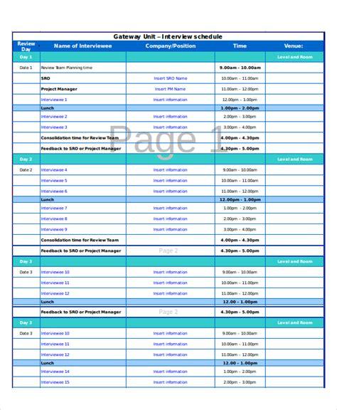 interview schedule excel schedule template 11 free pdf word document free premium templates