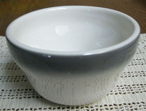 china laughlin homer usa bowl gray pottery custard bouillon dish border oz restaurant
