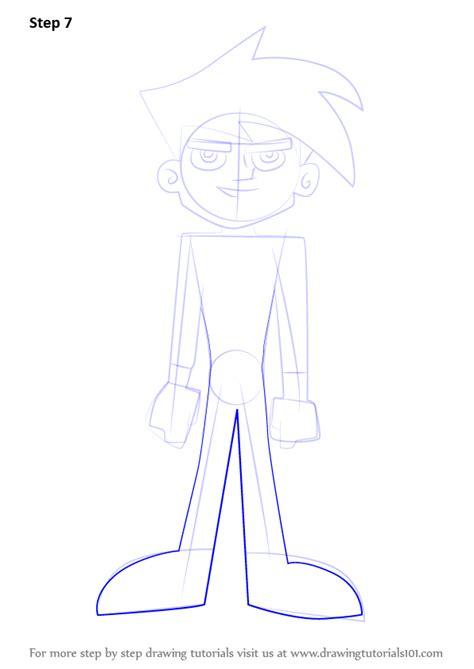 learn   draw danny  danny phantom danny phantom step  step drawing tutorials