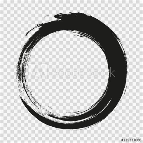 vector brush strokes circles  paint  white background