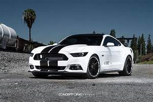 Concept One Custom Wheels on a White Mustang GT — CARiD.com Gallery