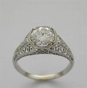 Diamond rings antique settings wedding promise diamond for Vintage wedding ring settings