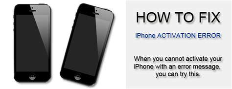 fix iphone activation error iphone 3 4 4s 5
