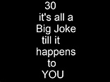36 best 30th Birthday Jokes images on Pinterest ...