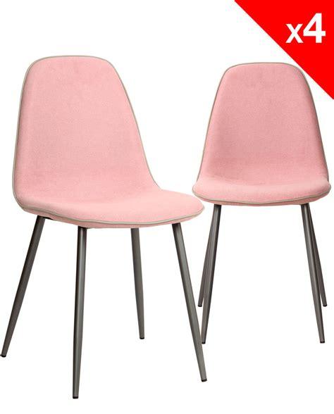 lot chaise salle a manger chaises design tissu et métal lot de 4 184 9