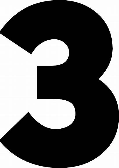 Number Three Clip Clker Clipart Vector