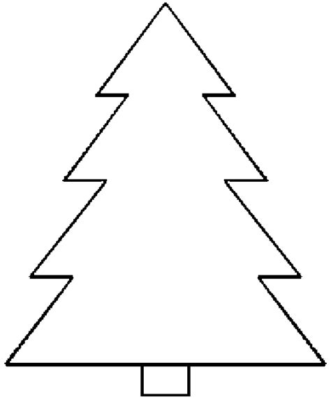 blank christmas tree coloring pages clip art library