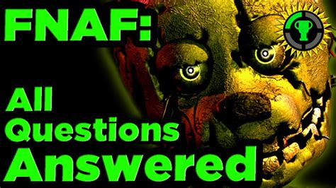 Game Theory Fnaf Game Theory Fnaf Mysteries Solved Pt 1 Youtube