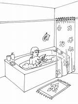 Bathroom Coloring Pages Printable sketch template