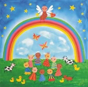 Gemalte Bilder Von Kindern : die regenbogenkinder unter dem regenbogen ~ Markanthonyermac.com Haus und Dekorationen