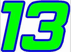 13 RACE NUMBER 2 COLOR HEMI HEAD FONT DECAL STICKER