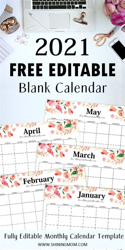 fully editable  calendar template  word