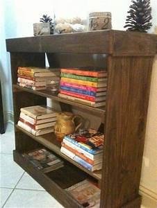 Diy, Bookshelf, Ideas, With, Pallet, Wood