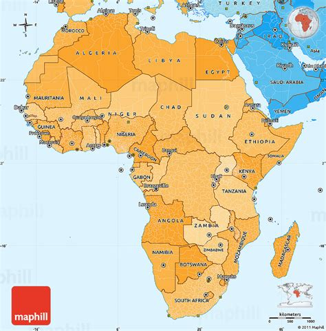 simple map  africa