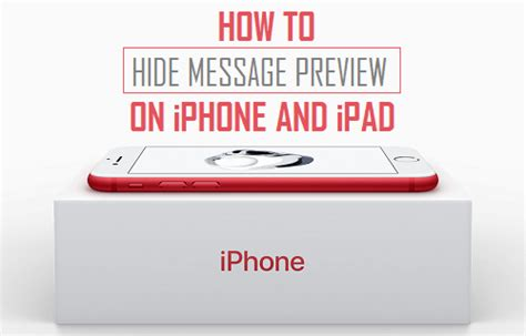 hide text messages iphone how to hide message preview on iphone or 1272