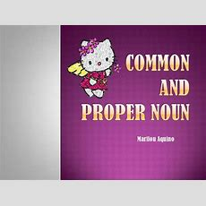 Common Noun And Proper Noun
