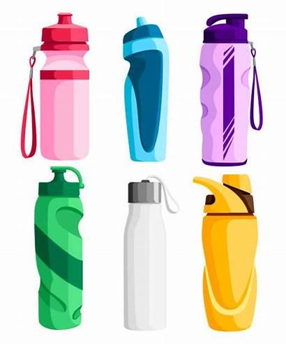 Bottle Plastic Water Bottles Vector Activities Different