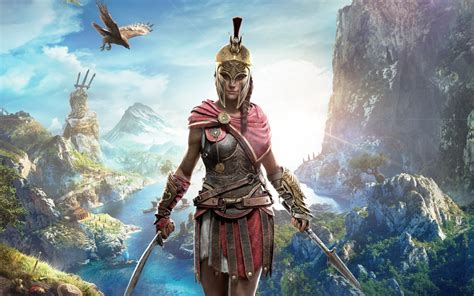 wallpaper kassandra assassins creed odyssey  games