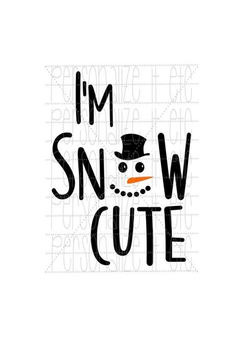 im snow cute svg file christmas instant