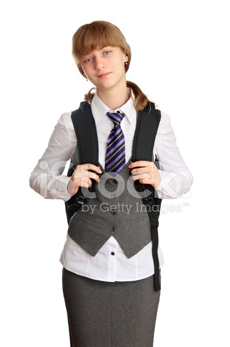 Teen Girl IN School Uniform Stock Photos FreeImages Com