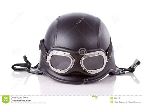 Us Army Style Motorcycle Helmet Stock Photo