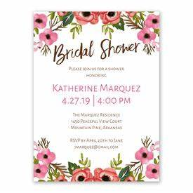 Blooming Beauty Bridal Shower Invitation Ann's Bridal