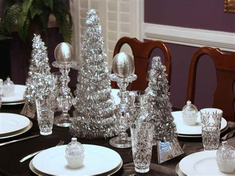 silver christmas table decorations with luxury design