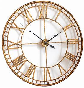 Extra large gold wall clock decofurnish for Large wall clock uk
