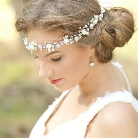 wedding floral halo bohemian wedding headpiece bridal flower