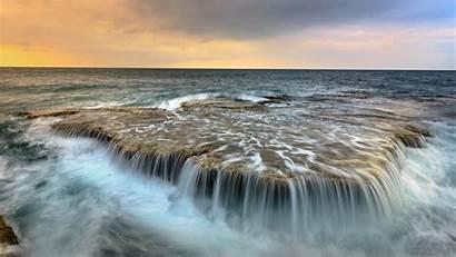 Ocean Waterfall Wallpapers Chromebook Instant