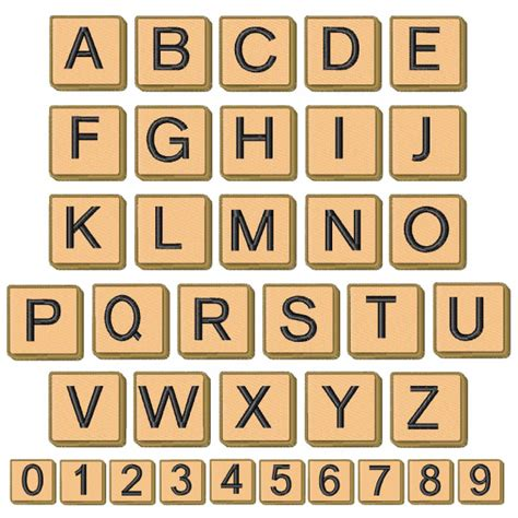 scrabble tiles no numbers by concord collections home format fonts on embroiderydesigns